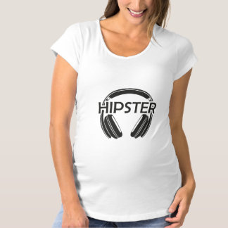 Music Headphones Hipster Maternity T-Shirt