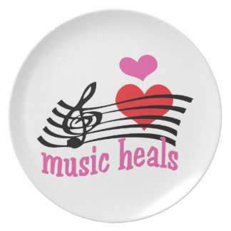 Music Heals Party Plate