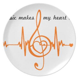 MUSIC HEART BEAT beaten Music of the heart Plate