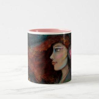 Music Heart Healed Pink 15oz Two-Tone Coffee Mug