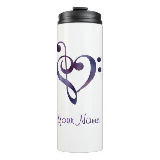 Music Heart Personalized Thermal Tumbler