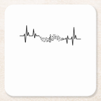 Music Heartbea musical player Gift Square Paper Coaster