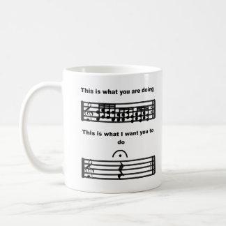 Music Humor Be Silent mug