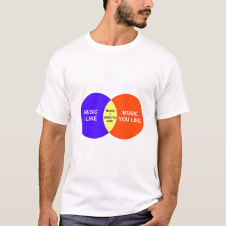 Music I Like Venn Diagram T-Shirt