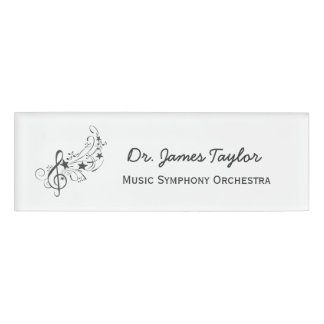 Music Illustration Band Symphony Orchestra Name Tag