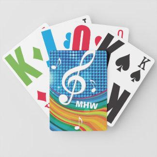 Music Illustration custom monogram playing cards