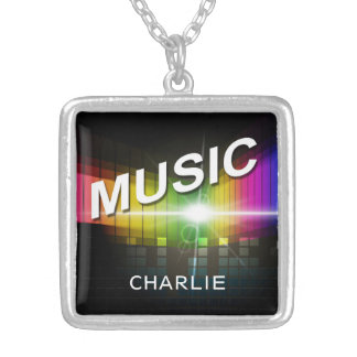 Music Illustration custom name necklace