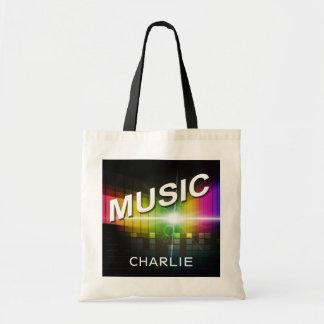 Music Illustration custom name tote bags