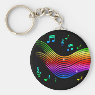 Music Illustration key chains