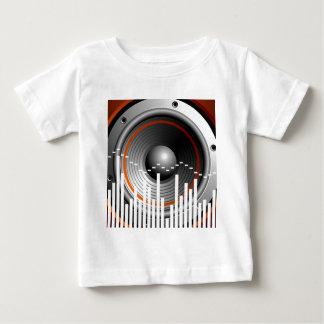 music illustration with speaker tshirt