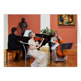 Music in a Grand Hall in Russia Greeting Card