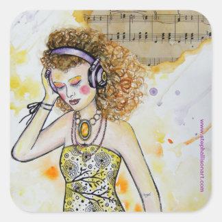 Music in Me Square Sticker