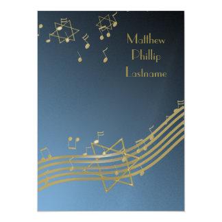 Music In The Air Bar Mitzvah 7.5 14 Cm X 19 Cm Invitation Card