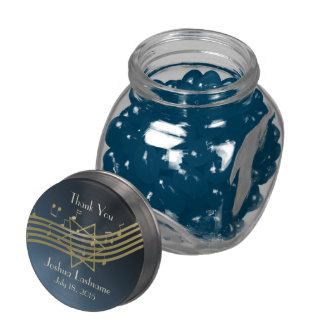 Music in the Air Bar Mitzvah Glass Jars