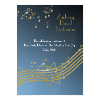 Music In the Air 5.5x7.5 Paper Invitation Card