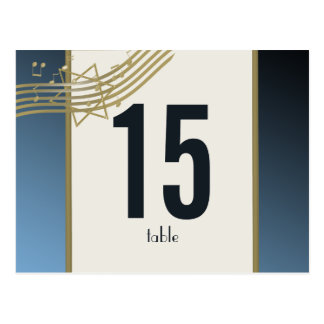 Music in the Air Table Number Postcard