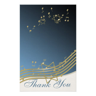 Music in the Air Thank You Notes Stationery