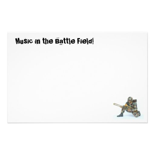 Music in the Battle Field! Personalized Stationery