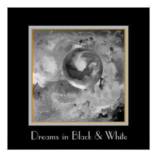 Music in the Mist in Black and White Poster