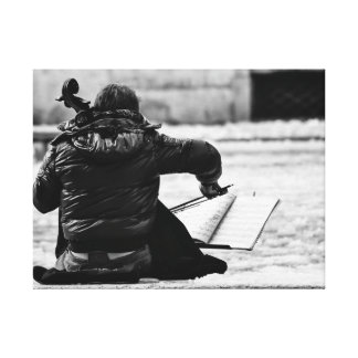 Music in the snow canvas print