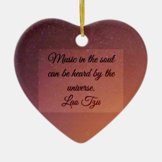 Music in the soul ceramic heart decoration