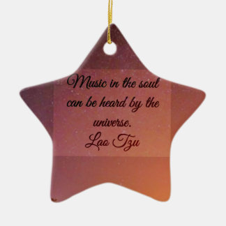 Music in the soul ceramic star decoration