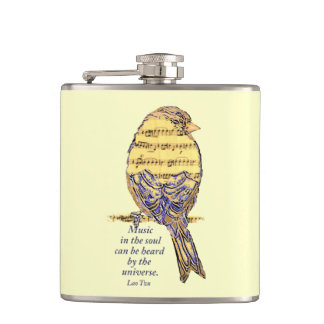 Music in the Soul Heard Universe music note Bird Flask