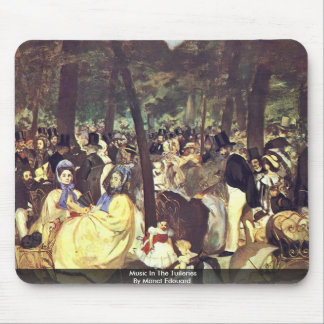 Music In The Tuileries By Manet Edouard Mousepads