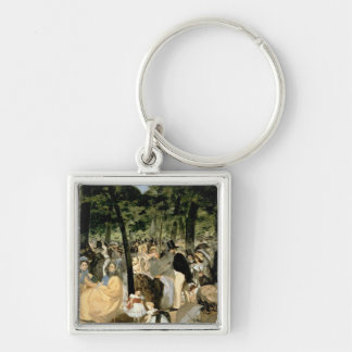 Music in the Tuileries Gardens, 1862 Keychain