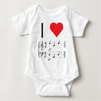 Music Infant Creeper, I love dada! Baby Bodysuit