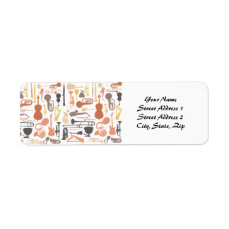 Music Instruments Return Address Label
