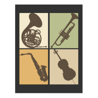 Music Instruments T-shirt Postcard
