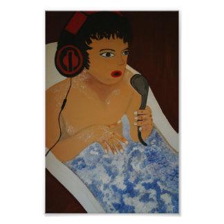 Music into the tub art photo