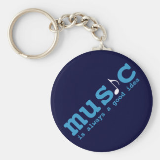 music is a good idea basic round button key ring