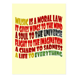 Music is a Moral Law Postcard
