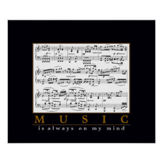 music is always on my mind poster