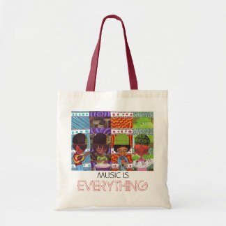 Music Is Everything Tote and Library Bag