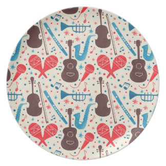 Music is Everywhere Pattern Plates