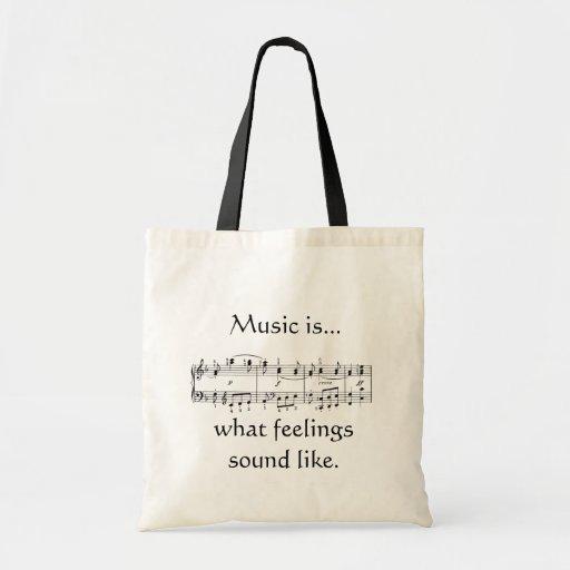 Music is Feeling Tote Bag