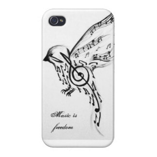 Music is freedom iPhone 4 case