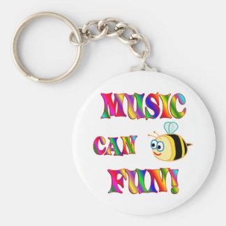 Music is Fun Basic Round Button Key Ring