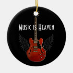 Music is Heaven Round Christmas Ornament