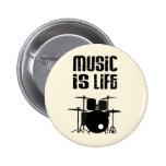 Music Is Life 6 Cm Round Badge