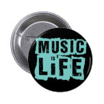 Music is Life! Buttons