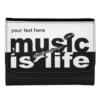 MUSIC IS LIFE custom wallets