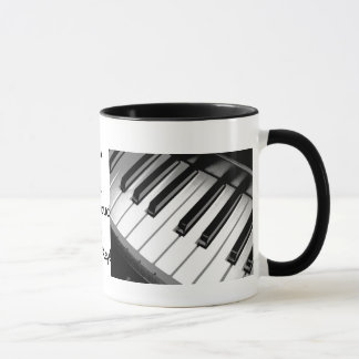 Music is Life Dual Picture Ringer Mug
