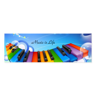 Music is Life Keyboard Bookmark Business Card
