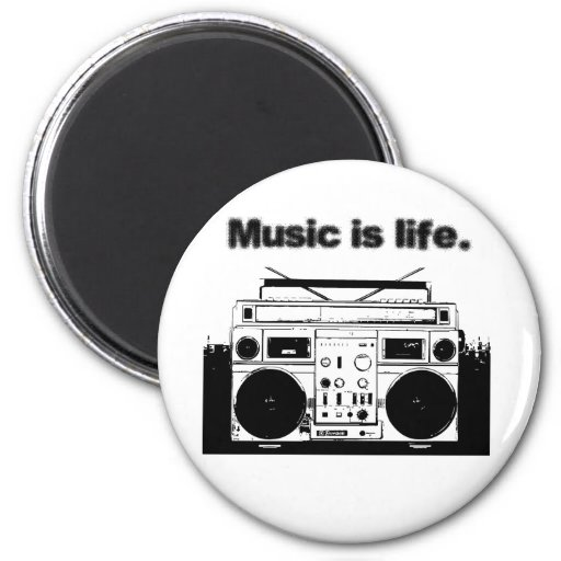 Music is Life Magnets