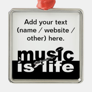 Music is life ornament - customize