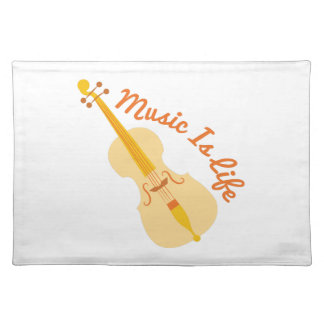 Music Is Life Cloth Placemat